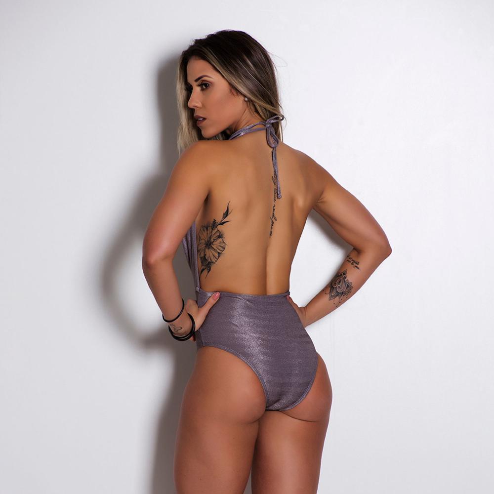 Body Fitness Frente Única Brilho BY030